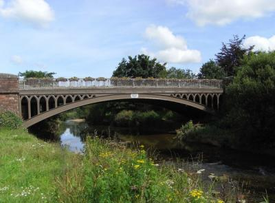 The most recent bridge over the river Otter at Ottery St Mary. built 1851.