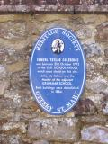Heritage Society plaque - Coleridge's birthplace